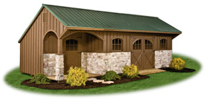 board n batten providence carriage house storage shed