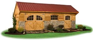 cedar sided providence carriage house storage shed